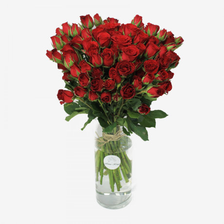 Mikado Red Spray Rose Flower Bouquet (30 stems)