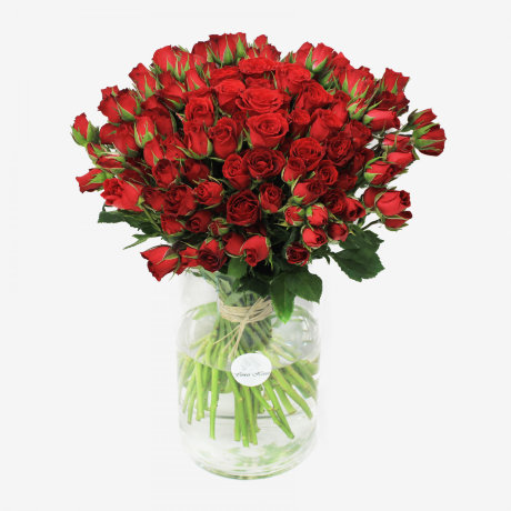 Mikado Red Spray Rose Flower Bouquet (50 stems)