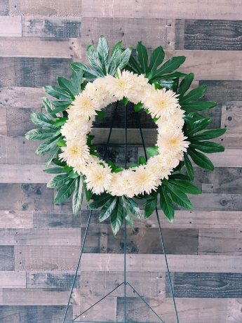 "18"" Pure White Funeral Wreath Stand"