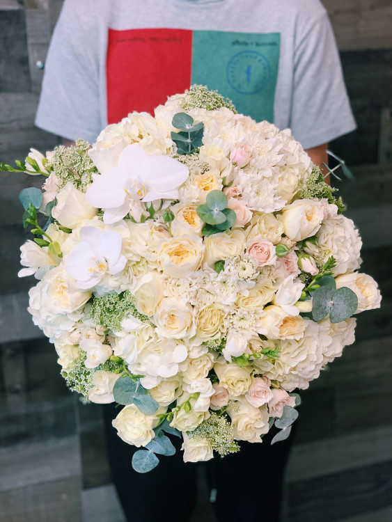 Purity Hand-Tied Flower Bouquet
