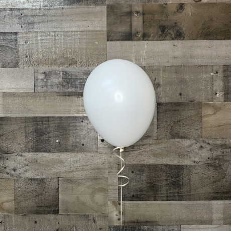White Latex Balloon 11""