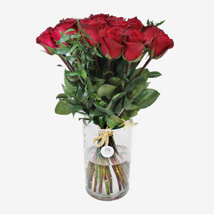 36 Red Freedom Roses Bouquet