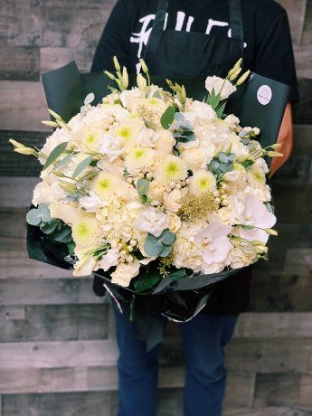 White Medea Hand-Tied Bouquet