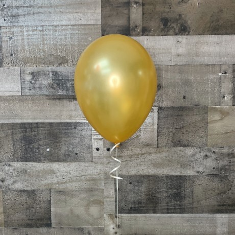 Gold Latex Balloon 11""
