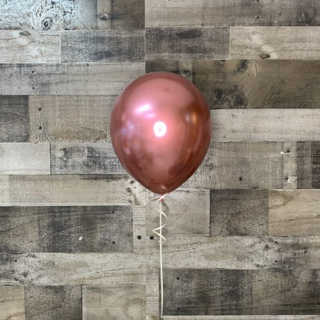 Metallic Rose Gold Latex Balloon 11""