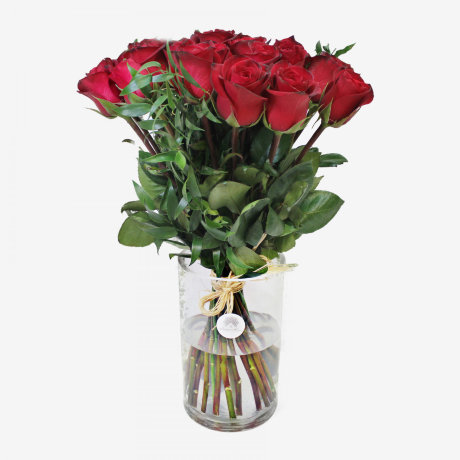 30 Red Freedom Roses Bouquet