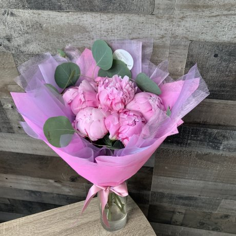 Elley Peony Hand-Tied Bouquet