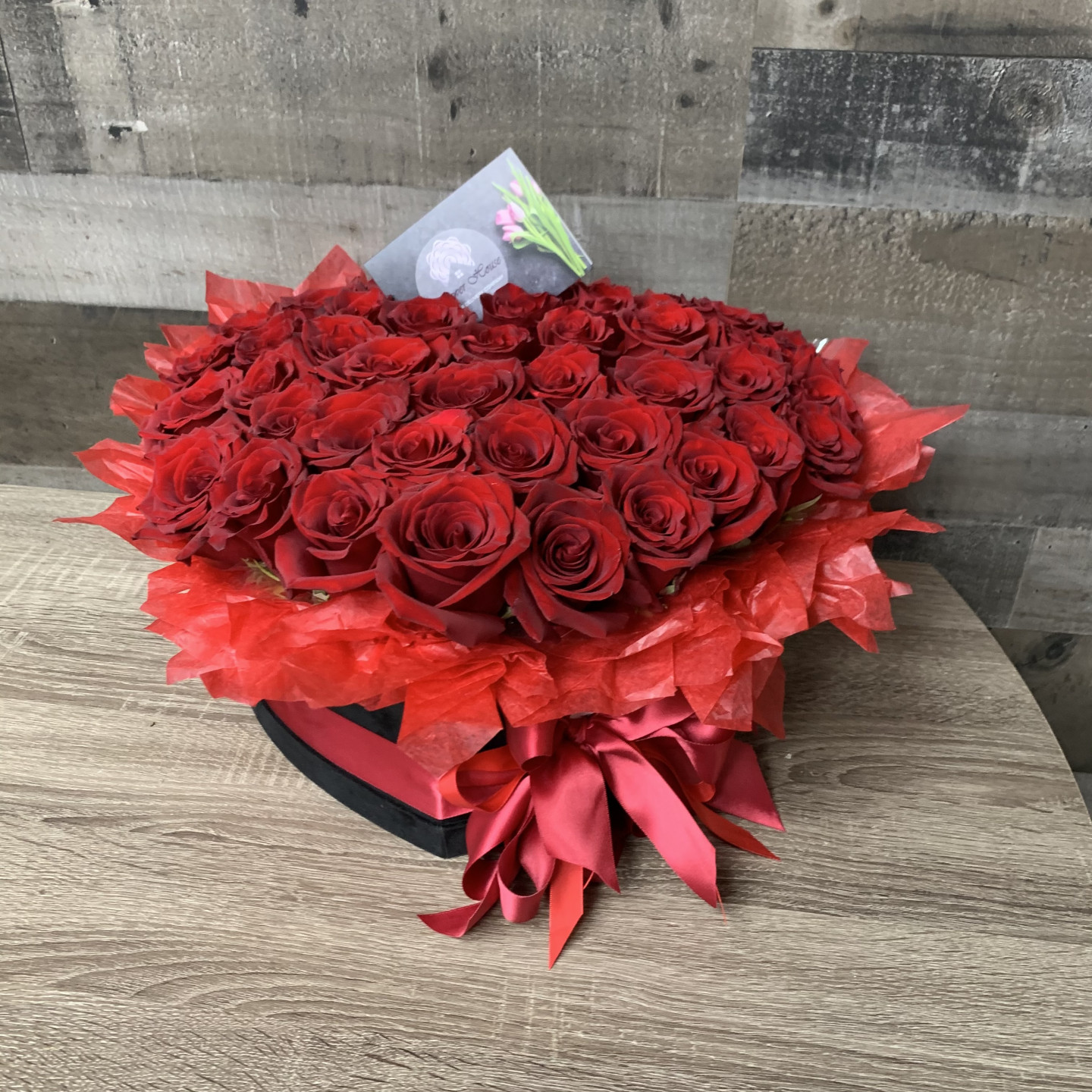Redsora Heart Flower Box