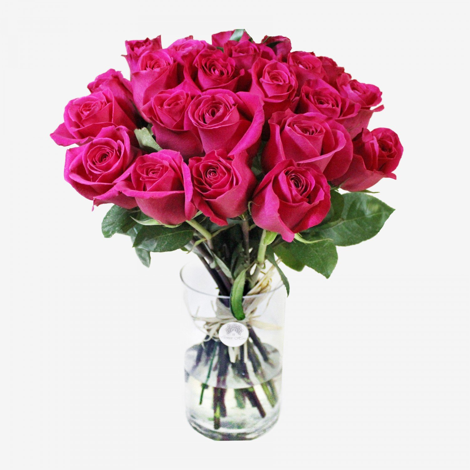 25 Pink Roses Bouquet