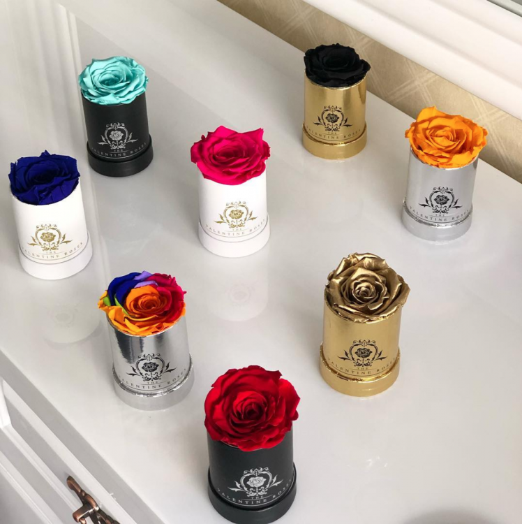 "Long Lasting Preserved Single Rose Box | 2"" Single Rose Sized"