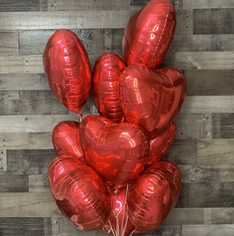 Valentine Hearts Balloon Bouquet