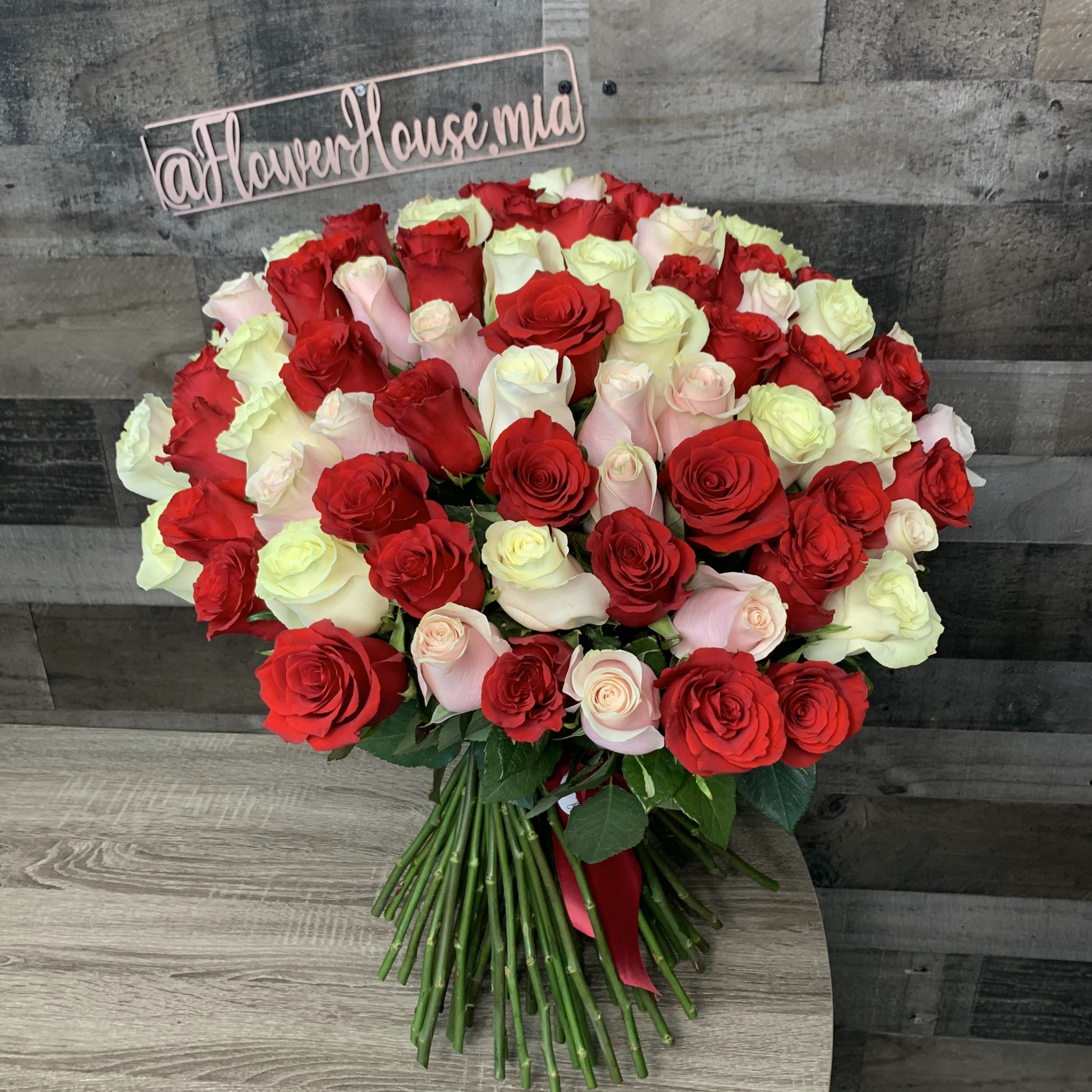 Assorted Rose Bouquet 50 75 100 150 Roses