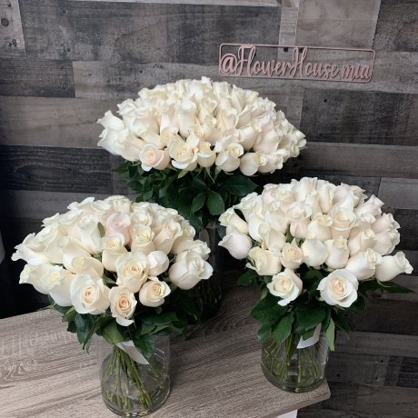White Faith | Set of 3 Arrangements