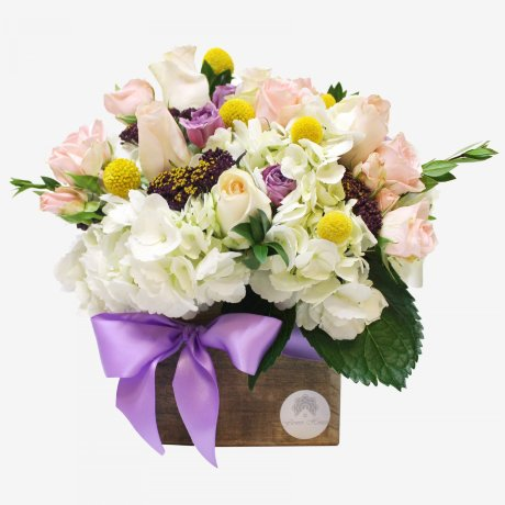 Fleur Flower Bouquet Wood Box