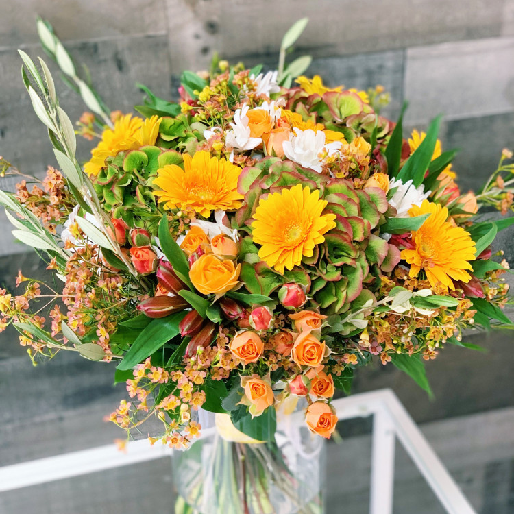 Autumn Defoliation Hand-Tied Flower Bouquet